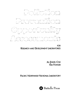 Pollution Prevention Opportunity Assessments for Research and Development Laboratories PDF