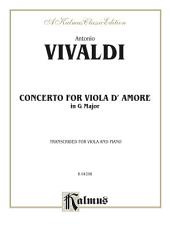 Concerto for Viola d'Amore: For Viola and Piano