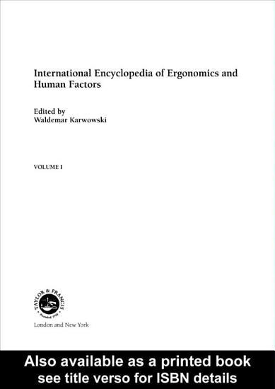 International Encyclopedia of Ergonomics and Human Factors   3 Volume Set PDF