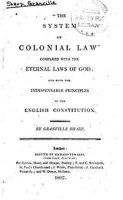 The System of Colonial Law  Compared with the Eternal Laws of God