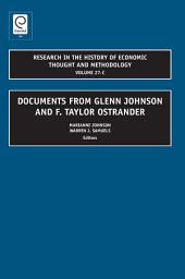 Documents from Glenn Johnson and F. Taylor Ostrander