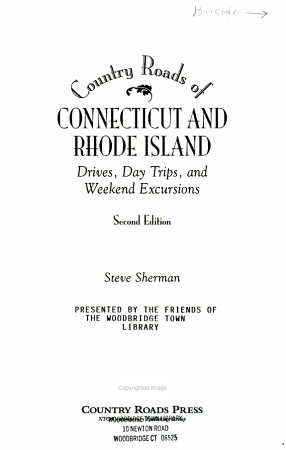 Country Roads of Connecticut and Rhode Island PDF