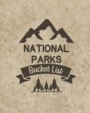 U. S. National Parks Bucket List Book