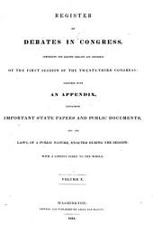 Register of Debates in Congress