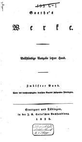 Goethe's Werke: Band 12