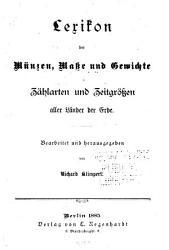 Lexikon der M  nzen  Masse und Gewichte PDF