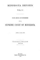 Minnesota Reports: Volume 53
