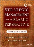 Strategic Management from an Islamic Perspective PDF