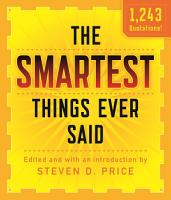 The Smartest Things Ever Said  New and Expanded PDF