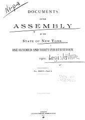 Documents of the Assembly of the State of New York: Volume 36