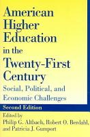 American Higher Education in the Twenty First Century PDF