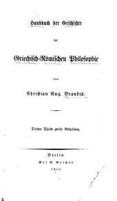 Handbuch der Geschichte der Griechisch-romischen Philosophie: Band 3,Ausgabe 2