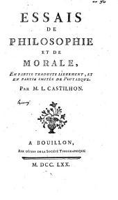 Essais de philosophie et de morale