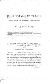 Notes from the Chemical Laboratory: Issues 1-12