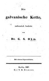 Die galvanische Kette, mathematisch bearbeitet
