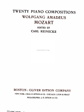 Twenty piano compositions