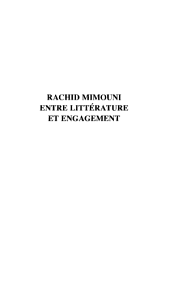 RACHID MIMOUNI : ENTRE LITTERATURE ET ENGAGEMENT