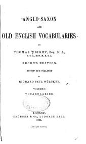 Anglo-Saxon and Old English Vocabularies: Vocabularies