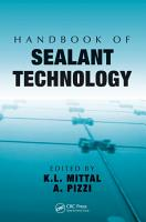 Handbook of Sealant Technology PDF