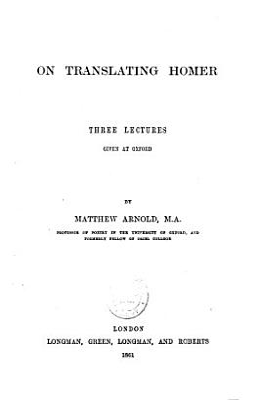 On Translating Homer PDF