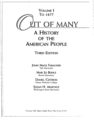 Out of Many: To 1877
