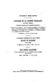 Grimod de La Reynière et son groupe: d'après des documents entièrement inédits