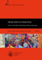 From Text to Practice   The role of the Bible in daily living of African people today PDF