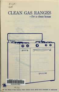 Clean Gas Ranges for a Clean House Book