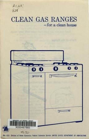 Clean Gas Ranges for a Clean House PDF