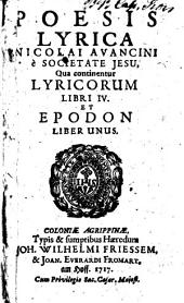 Poesis lyrica: lyricorum libri IV et Epodon liber unus