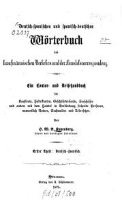 Deutsch spanisches und spanisch deutsches W  rterbuch des kaufm  nnischen Verkehrs und der Handelscorrespondenz0 PDF