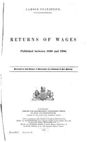Returns of Wages, Published Between 1830 and 1886