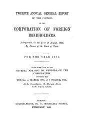 Annual Report of the Council of the Corporation of Foreign Bondholders: Issue 12
