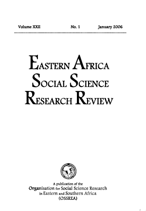 Eastern Africa Social Science Research Review PDF