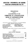 Agriculture  environmental and Consumer Protection Appropriations for 1975 PDF
