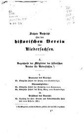 Nachricht über den Historischen Verein für Niedersachsen: Ausgabe 6