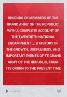 Records of Members of the Grand Army of the Republic PDF