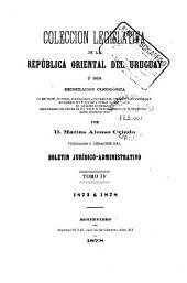 Colección legislativa de la República Oriental del Uruguay: Volumen 4