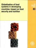 Globalization of Food Systems in Developing Countries  Impact on Food Security and Nutrition PDF