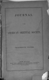 Journal of the American Oriental Society: Volume 13