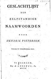 Geslachtlijst der zelfstandige naamwoorden: Volume 1