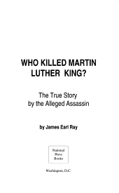 Who Killed Martin Luther King Jr
