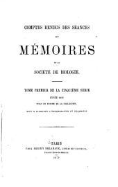 Comptes rendus des séances de la Société de biologie et des ses filiales: Volume21
