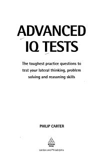 Advanced IQ Tests