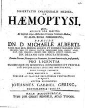 Diss. inaug. med. de haemoptysi