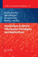 Innovations in Neural Information Paradigms and Applications PDF