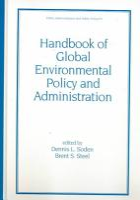 Handbook of Global Environmental Policy and Administration PDF