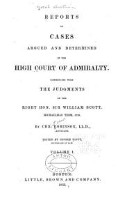 Reports of Cases Argued and Determined, 1798-1850: Volume 1