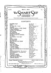 The Smart Set: A Magazine of Cleverness, Volume 40