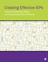 Creating Effective IEPs PDF